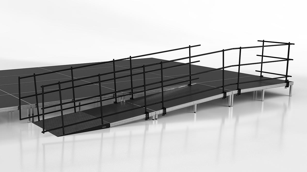ADA wheelchair ramp for stages