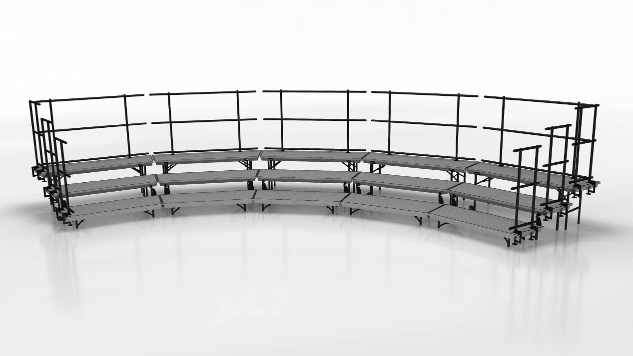 standing choral risers large setup package