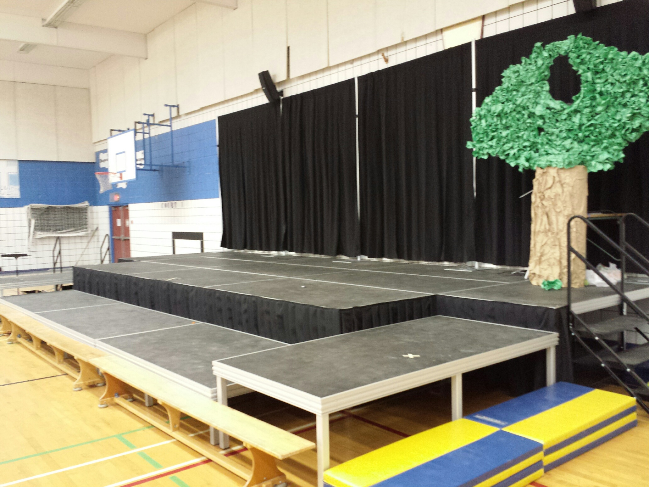 Multi level stage in school