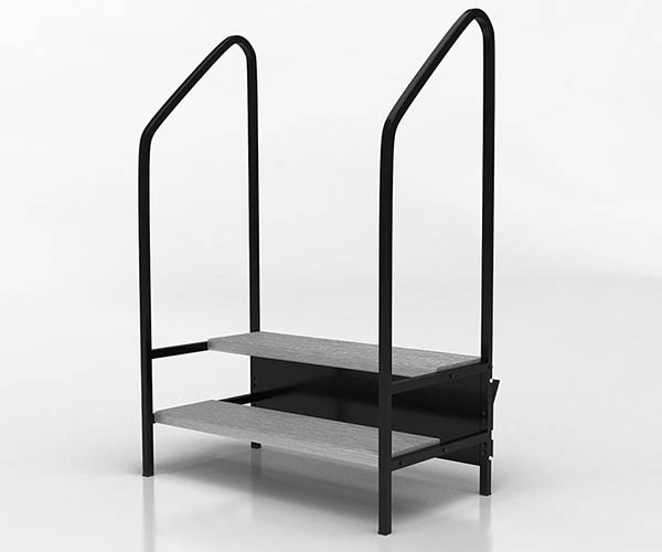 stairs with rail for stages and risers