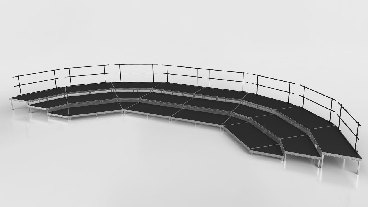 Seated Band Risers in arc configuration